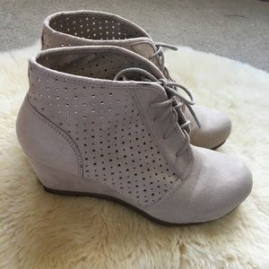 American Eagle Wedge Ankle Booties Size 12